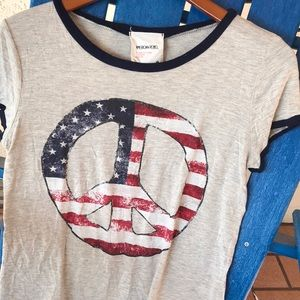 American Rebel Cropped Tee in Large 4th of July!